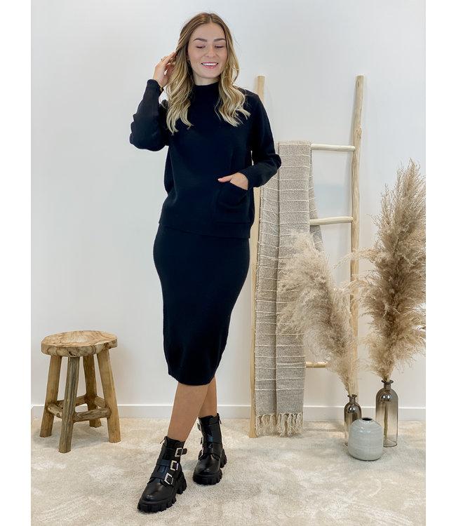 Gebreide trui - zwart