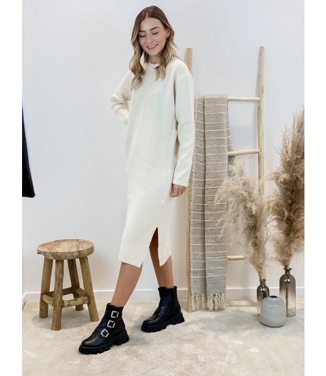 Yasmine ribble dress - créme