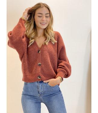 She's Milano x Gilet maroon