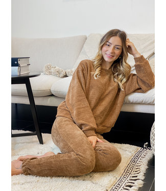 Velour jogging - caramel