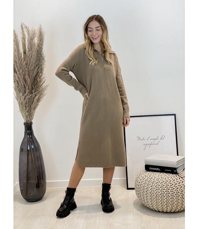 Yasmine MAXI dress - chestnut
