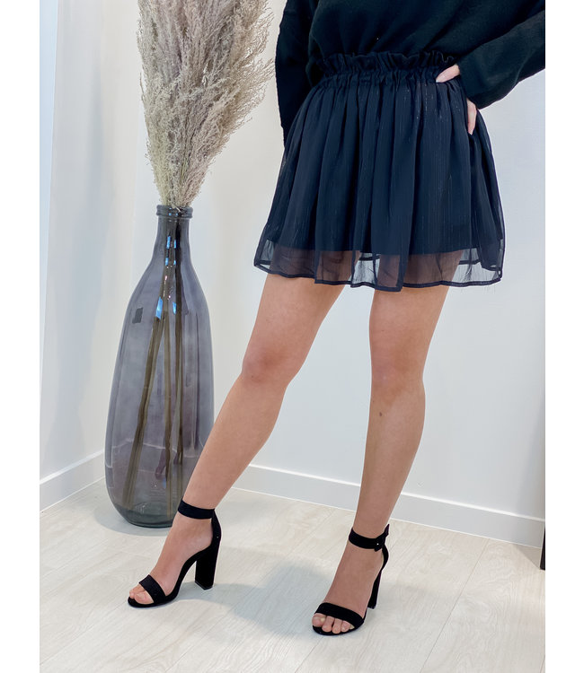 Cute black glitter detail skirt