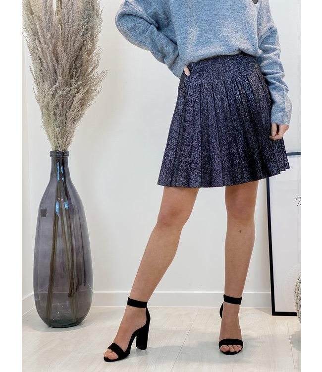 Glitter plissé skirt