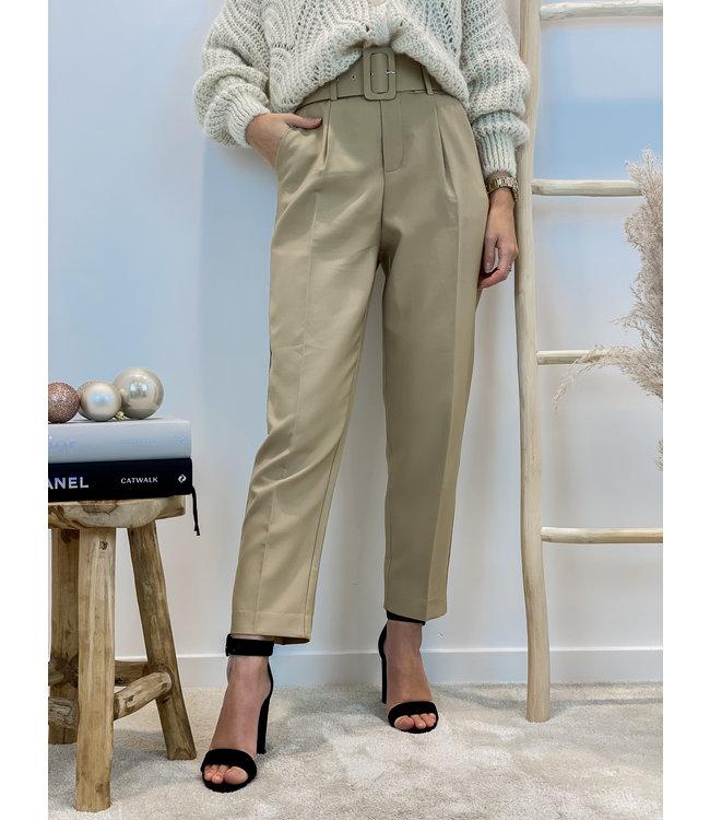 Classic belt trouser - camel