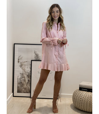 Bow layer dress - ballerina pink
