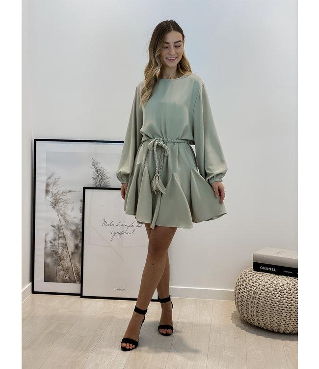 Braided dreamy dress - mint