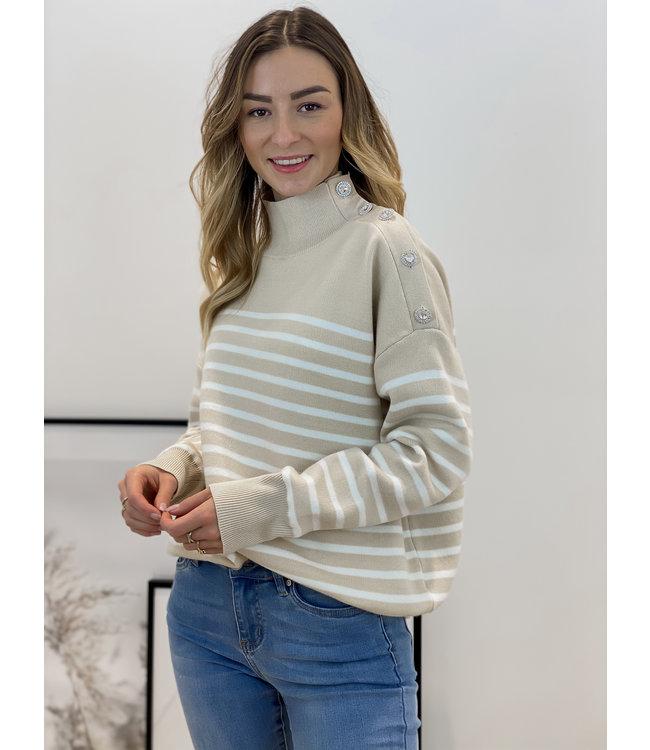 Hope stripe sweater - nude