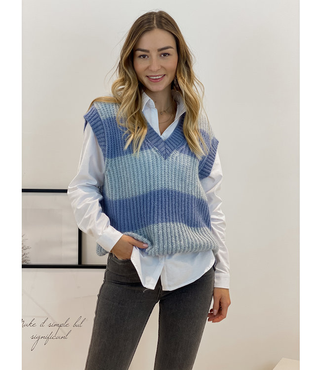 Stripe debardeur - double blue