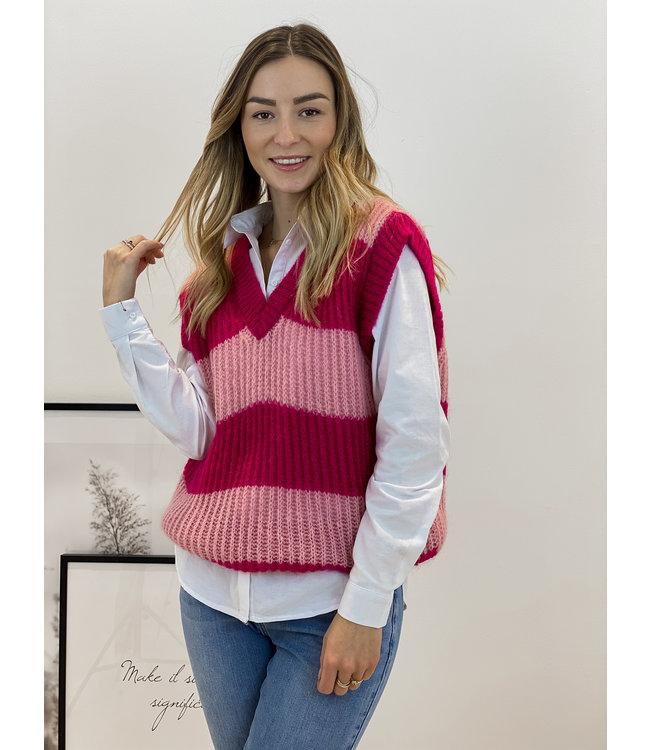 Stripe debardeur - double pink