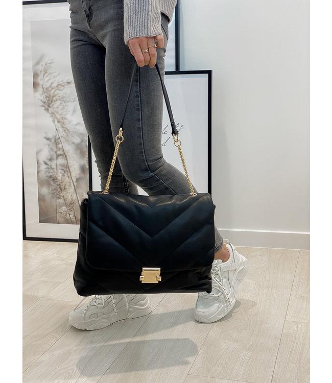 Lulu chain bag black