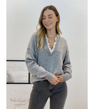 Chloé lace sweater - grey