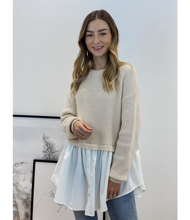 Bisous sweater - nude