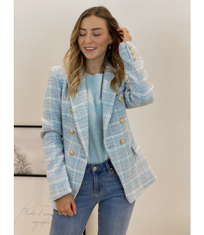 Chanel inspired blazer- blue