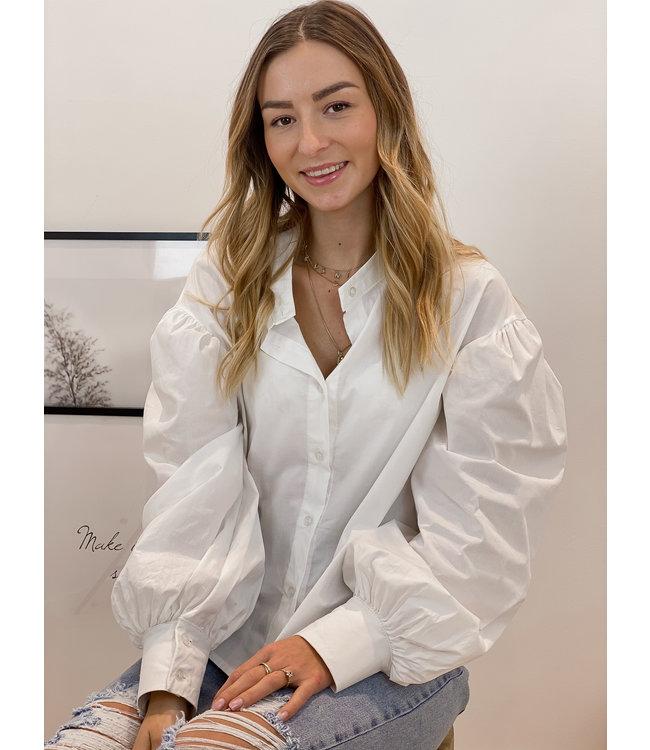 Mock blouse - white