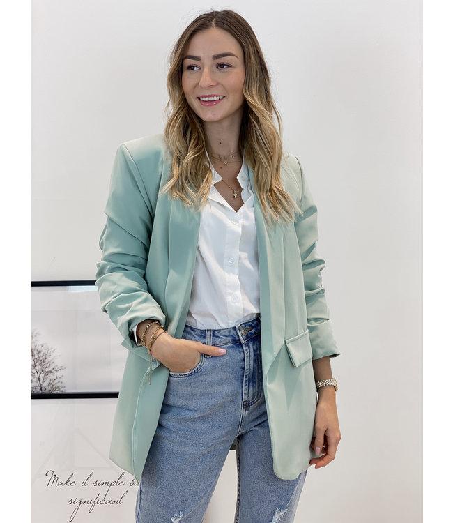 Classic blazer - mint green