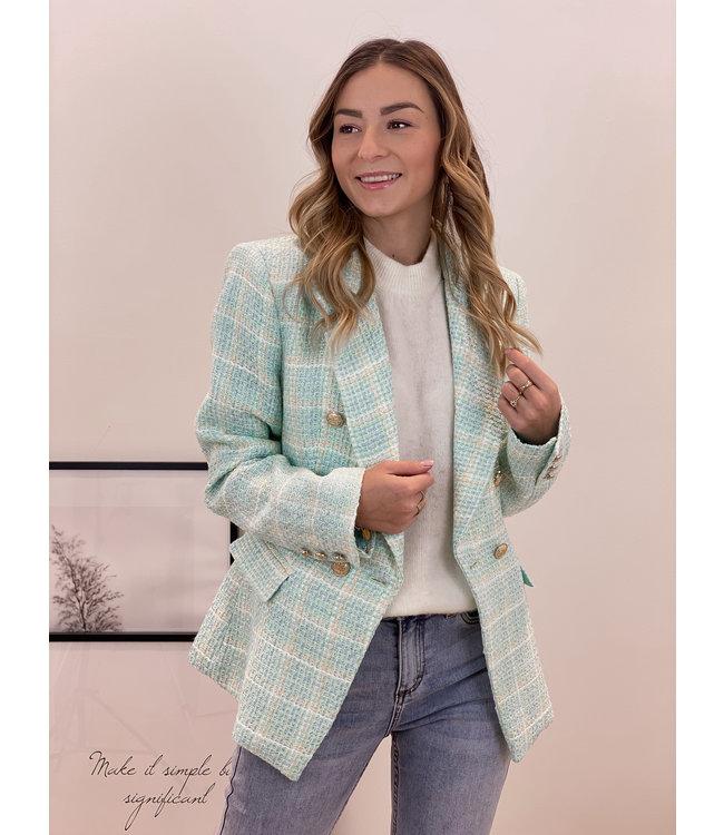 Chanel inspired blazer- mint
