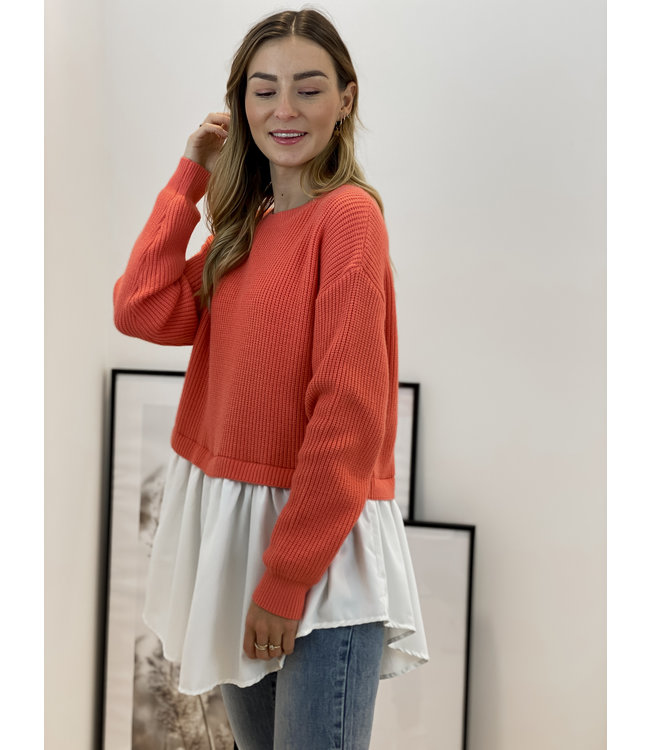 Bisous sweater - coral
