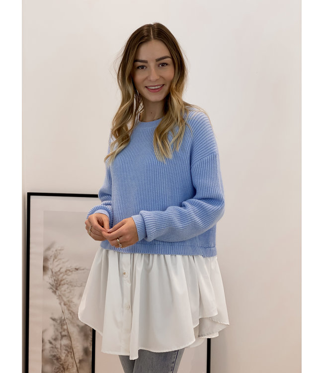 Bisous  sweater - babyblue
