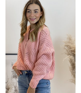 She's Milano x knitted cardigan abricot