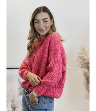 She's Milano x knitted cardigan french pink