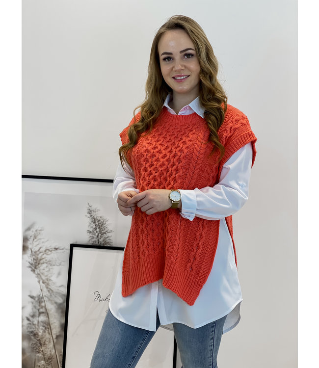 Spencer blouse - coral