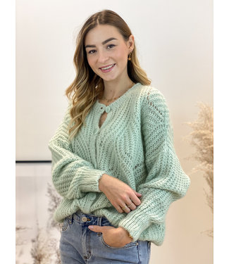 She's Milano x knitted cardigan spring green