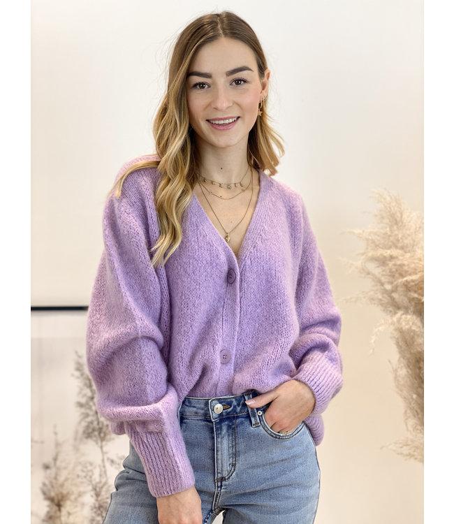 She's Milano x button cardigan lila