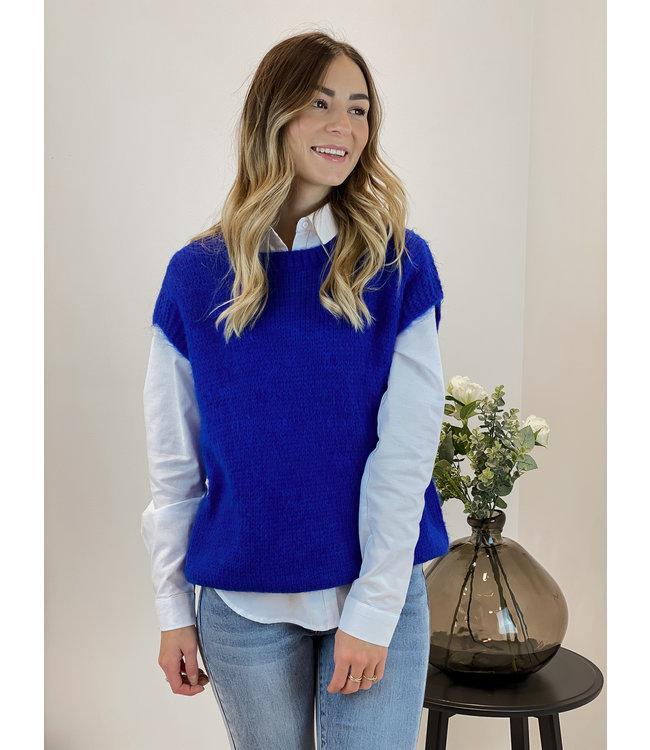 Knitted spencer - kobalt blue
