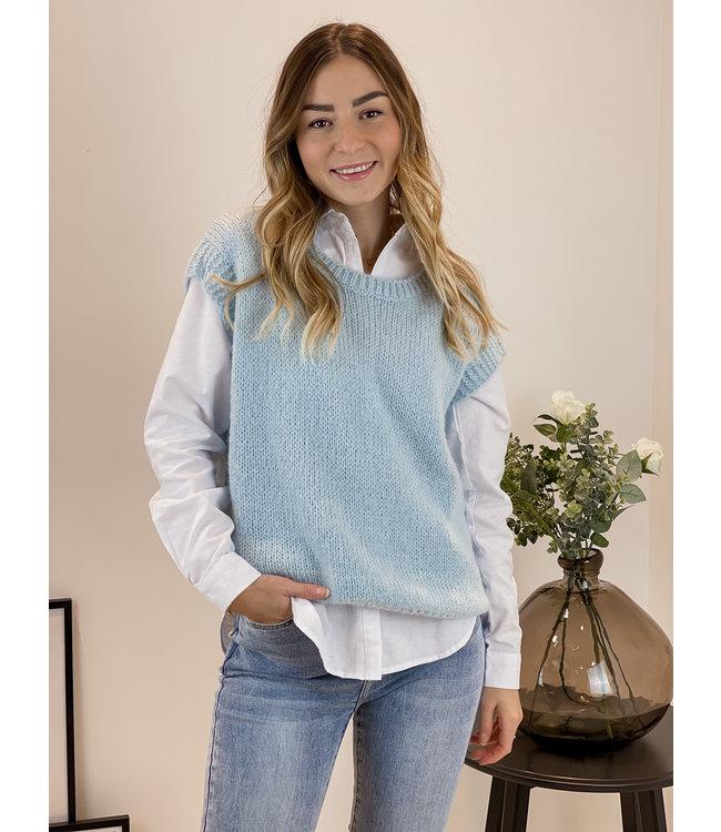 Knitted spencer - babyblue