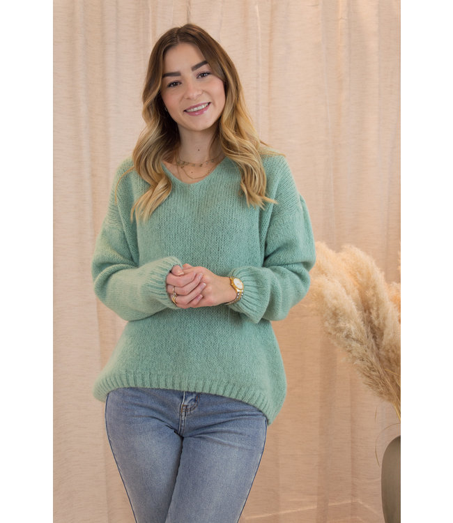 Belle sweater - spring green