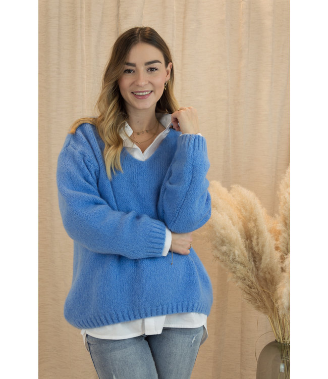Belle sweater - sky blue