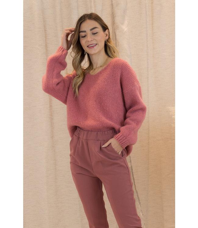 Belle sweater - terracotta
