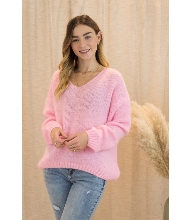 Belle sweater - candy pink