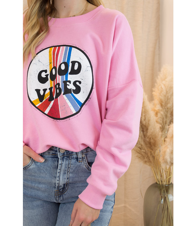 Good vibes sweater - pink