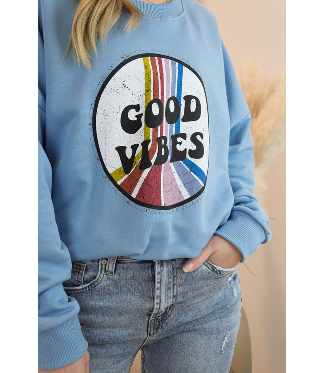 Good vibes sweater - blue