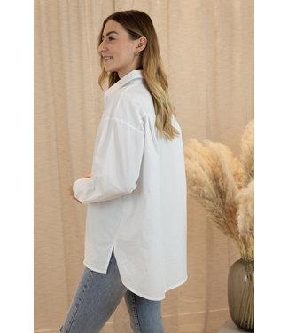 Oversized blouse - white
