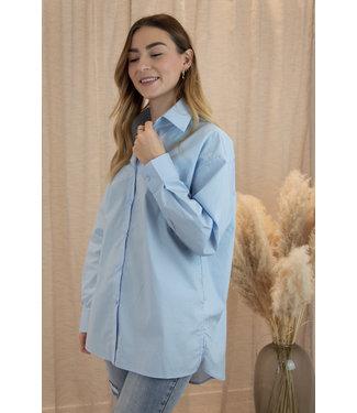 Oversized blouse - sky blue