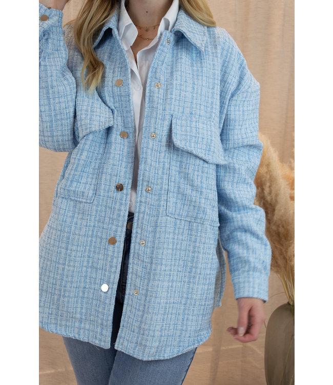 Bouclé jacket - blue