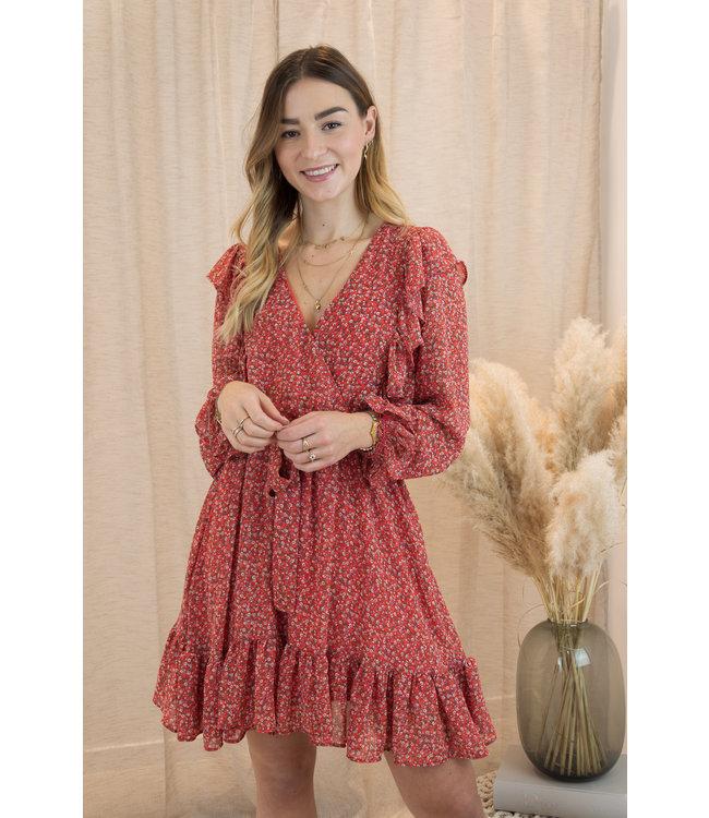 Amalia dress - red