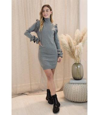 Flair shoulder dress - grey