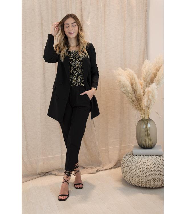 Button blazer - black