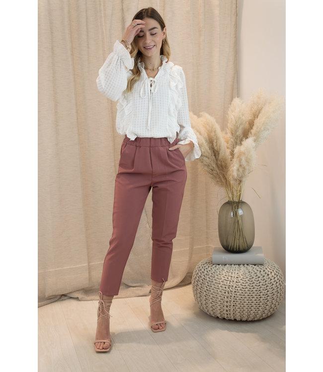 Classic pants - maroon
