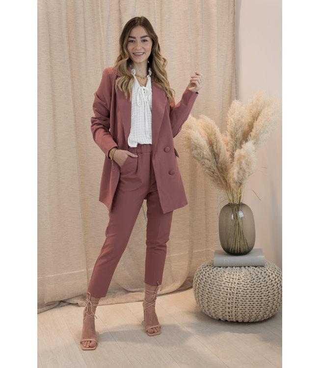 Button blazer - maroon