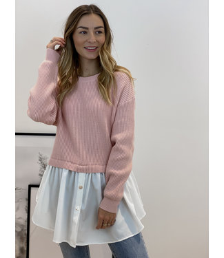 Bisous sweater - pink