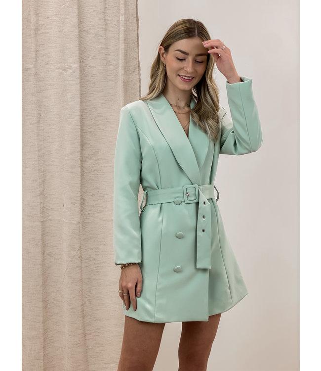 Blazer belt dress - mint