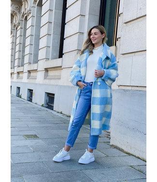 Carreaux MAXI coat - blue