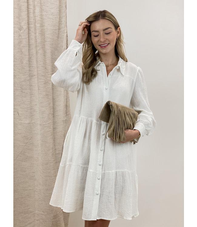 Soft dreamy dress - ecru