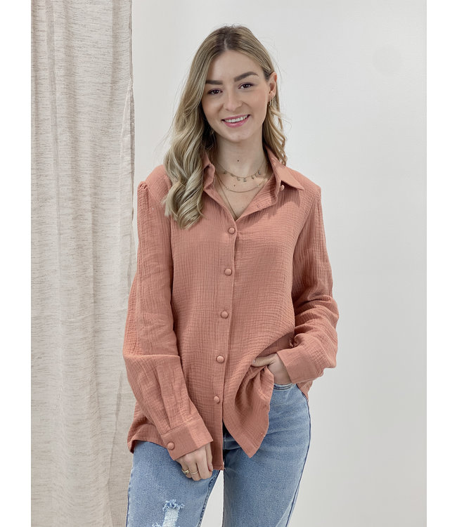 Soft dreamy blouse -terracotta