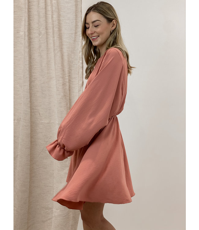 Poppy dress - terracotta