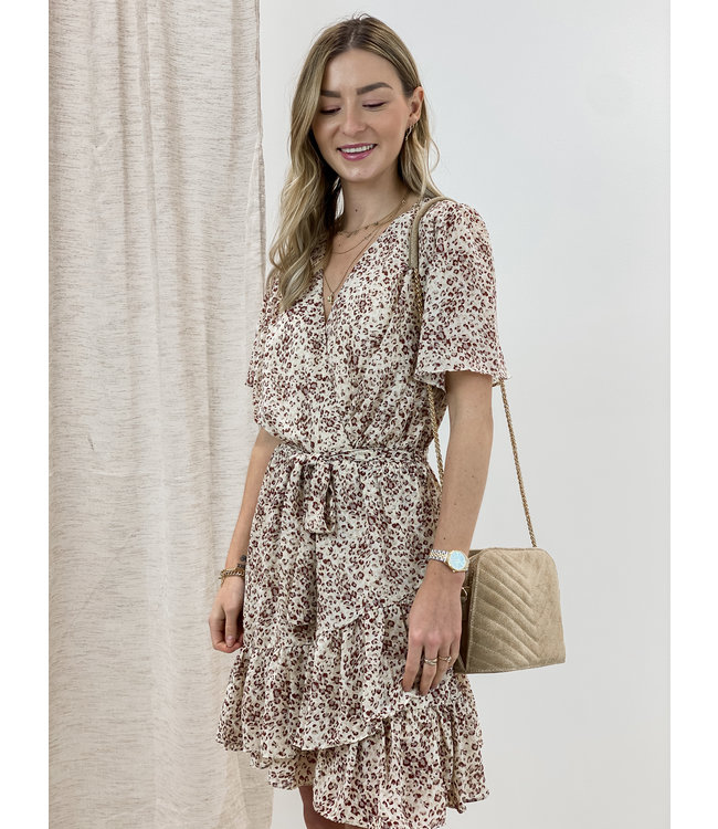 Leopard dress short sleeves